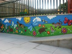 little acorns pre-school playground mural | Flickr - Photo Sharing!