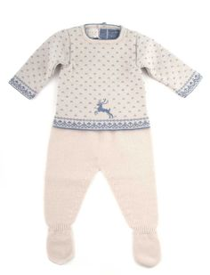 Cute winter outfit for babies with Scandinavian design