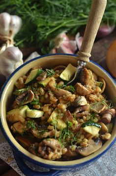 Vegetarian Recipes, Healthy Recipes, Polish Recipes, Mushroom Recipes, Food Inspiration, Good Food, Dinner Recipes, Food And Drink, Tasty
