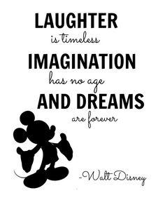 Walt Disney Imagination Quote Digital Wall Art                                                                                                                                                                                 More