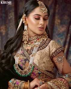 @zonera.shah recreates this #maharani makeup look perfectly! • Outfit: @onitaalondon Jewellery: @reddotjewels