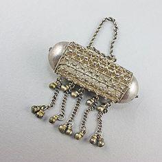 Vintage Ethnic Jewellery Silver Pendant Middle Eastern