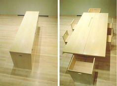 space saving table: