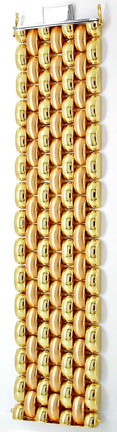 Foto 5, Gelbgold Rotgold Weissgold Armband 14K/585 Luxus! Neuw., K2891