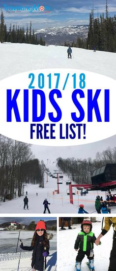 Is this the year your kids learn to ski? Or maybe you're just looking to save some money? We have a HUGE list of where your kids ski free across the US for the 2017-2018 season. #SkiPA #ski #skitrip #TMOM (sponsored)