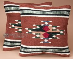 Mission Del Rey Southwest - Pair Southwest Pattern Pillow Covers 18x18 Cherokee Style, $49.95 (http://www.missiondelrey.com/pair-southwest-pattern-pillow-covers-18x18-cherokee-style/)
