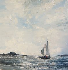 """Caverly Smith - Oil painting 16 x 16"""" - Sails part 1 This one is my favorite I think. Wow!"""