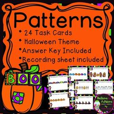 ***50% off the FIRST 48 Hours- Pattern Task Cards with Hal