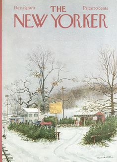 The New Yorker - Saturday, December 19, 1970 - Issue # 2392 - Vol. 46 - N° 44 - Cover by : Albert Hubbell