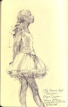 Degas dancer sketch