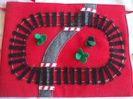 Quiet Play Felt Train Track with Metal Pull Back Train. $19.50, via Etsy.