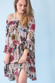 Monroe Gray Babydoll Dress-[product_description]-[product_tag]-Stella B. Clothing