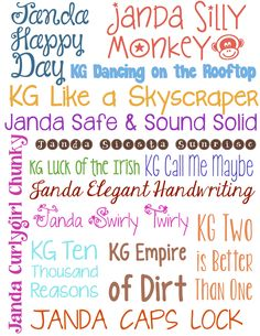 Favorite Kimberly Geswein Fonts #fonts #irishmcsweeney