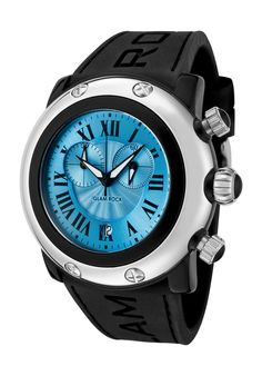 Price:$99.00 #watches Glam Rock GW25142, Add an understated look to your outfit with this unique and detailed Glam Rock watch. This timepiece offers a silver guilloche dial in a stainless steel case.