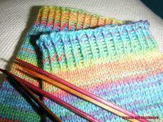 Socken, stricken, elastisch, bündchen, strickbündchen, abketten