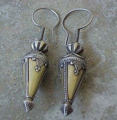 Jewelry Necklace Jewelery Antique Exqusite pair of Central Asian Kazak Silver Earrings Jewelry Necklace Jewelery Antique Exqusite pair of Central Asian Kazak Silver Earrings Ethnic Jewelry, Indian Jewelry, Boho Jewelry, Silver Jewelry, Jewelry Accessories, Jewelry Design, Fashion Jewelry, Silver Rings, Western Jewelry