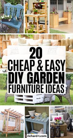 20 Must have DIY garden furniture ideas for your home! These DIY ideas are amazing and will make your home look beautiful! 20 Must have DIY garden furniture ideas for your home! These DIY ideas are amazing and will make your home look beautiful! Garden Sofa, Outdoor Garden Furniture, Outdoor Decor, Outdoor Living, Outdoor Ideas, Rustic Outdoor, Outdoor Seating, Diy Planter Box, Diy Planters