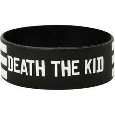 Soul Eater Death The Kid Stripe Rubber Bracelet   Hot Topic ($7) ❤ liked on Polyvore