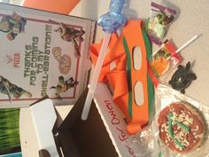 Great idea... Using pizza box as a goodies bag I wonder where I could find pizza boxes