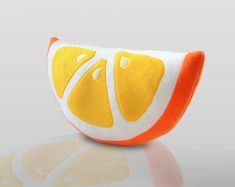 Orange Pillow Cute Pillow by WinterPetals on Etsy,