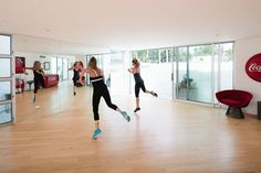 The House That Jazzercise Built: Here, the duo practices a routine in the at-home dance studio.