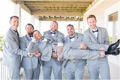 Navy Outer Banks Beach Wedding Photography   Anna Grace Photography   Groomsmen