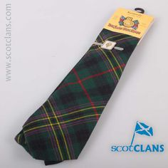 Kennedy Tartan Tie and Clan Crest Clip Set. Free worldwide shipping available.
