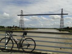 Adrian @adrian_csmith @BrittanyFerries  Cycle ride to transporter bridge at Rochefort #DiscoverWithBF