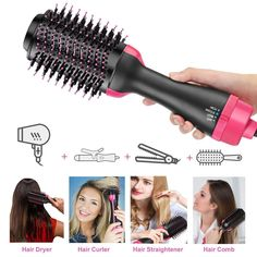 Flawless™ - One Step Haar Droger & Volumizer (2 in 1) Blow Dryer With Comb, Hair Dryer Brush, Different Hair Types, One Step, Dry Brushing, Hair Health, Health And Beauty, Hair Care, Beauty Bar