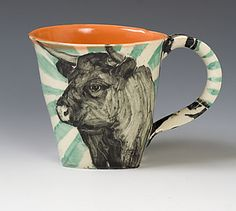 Woodland Creatures Nesting Bowl Set I've featured the work of the ceramic artis. Country Picnic, Cow Mug, Coffee Images, Woodland Creatures, Ceramic Art, Bowl Set, Jewelry Art, Contemporary Art, Objects