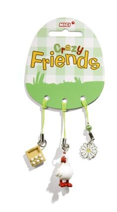 Nici Crazy Friends Henne Beauties Handyanhänger Anhänger Tasche Geschenk n32149