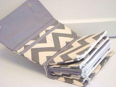 Enveloppe de trésorerie / Coupon Wallet / Dave Ramsey système / enveloppes à capuche - gris et naturel Chevron Zig Zag