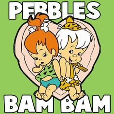How to draw Pebbles & Bam Bam