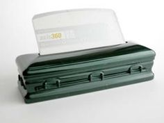Casket business card holder. Perfect for a new funeral director or recent graduate.