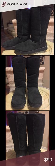 UGG Classic Tall Boots Plenty of life left but they've been worn more than any others I own. If keeping I would replace the insoles but they are perfectly fine as is. I have the box but it's a little worn. Extra pics upon request. Price is firm unless bundled. UGG Shoes Winter & Rain Boots