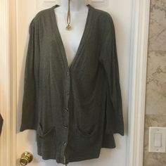 Old navy gray cardigan PN Button down,2 pockets at d bottom,100% cotton cardigan. Old Navy Sweaters Cardigans