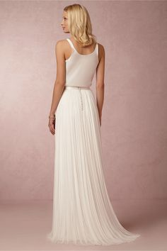 62cfdac456 BHLDN Catherine Deane Anika Tulle Skirt Size 4 Wedding Dress – OnceWed.com