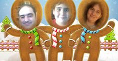 Cast yourself and two more as a jolly gingerbread crew for a holiday greeting that's sweet, but with a touch of spice!