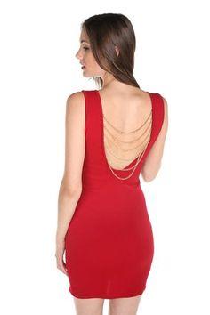 Chain Back Bodycon Dress
