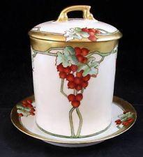 Tressleman Voight Antique Condensed Milk Holder w/Underplate Vintage A+ Currants