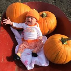This baby doesn't want to be wheeled around the pumpkin patch. #pinterestfail