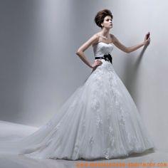 2012 neues Brautkleid aus Satin und Organza Elegante bodenlange Bautkleider