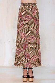 Vintage Missoni Amelie Patch Wool Maxi Skirt | Shop Vintage at Nasty Gal!