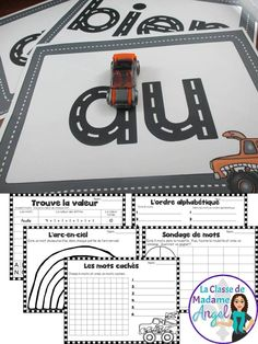 Mots fr& Practice sight words in French with this fun activity! Students drive mini-cars around the letters! Also included are 5 different coordinating printables to add variety to this fun Word Work station! Learning French For Kids, Ways Of Learning, French Teaching Resources, Teaching French, How To Speak French, Learn French, Work In French, Word Work Stations, French Education