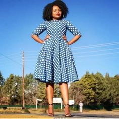Top South African Shweshwe Dresses for 2019 ⋆ African Fashion Dresses, African Dress, Shweshwe Dresses, Africa Fashion, Dresses For Work, Work Outfits, What To Wear, Short Sleeve Dresses, Wedding Dresses