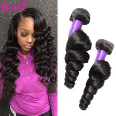 Hot Brazilian Loose Wave Virgin Hair 4 Bundle Deals Rosa Hair Products Human Hair Soft Loose Wave Brazilian Hair Weave Bundles