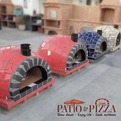 Mosaic Tile Wood Fired Pizza Oven from Portugal - Imagine firing up this gorgeous oven while sipping your favorite drink on a cool evening with friends!