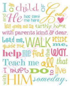 I Am a Child of God  -  11x14 print. $24.00, via Etsy.