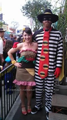 Coolest Homemade Hamburgler and Hamburger Couple Costume... Coolest Halloween Costume Contest