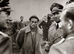 Stalin's son Yakov Dzhugashvili captured by the Germans in 1941. He was later killed in a prison camp.